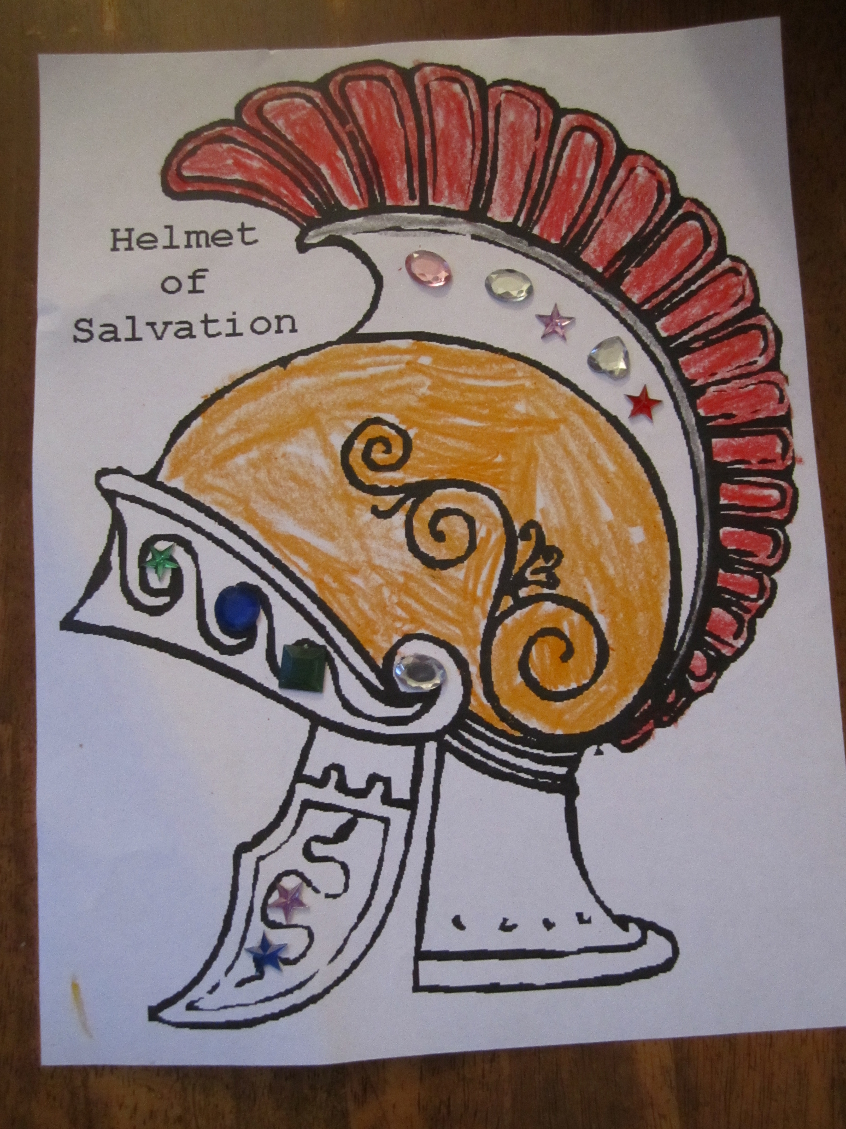 Helmet Of Salvation Coloring Sheet Ministry 2 Kids Helmet Of Salvation Coloring Page